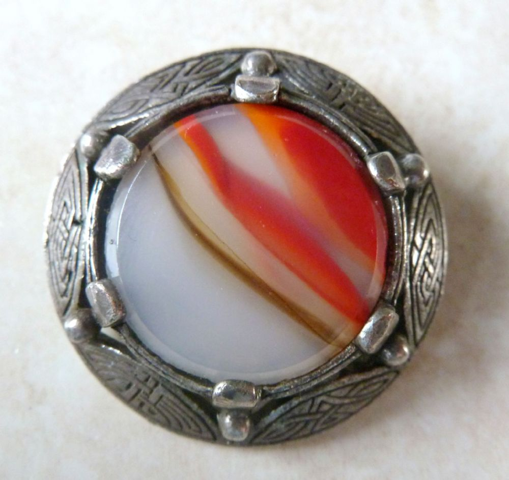 Vintage Miracle Celtic Style Shield Brooch